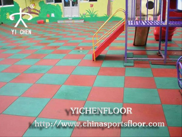 waterproof and anti-skid rubber flooring paver for outdoor playground
