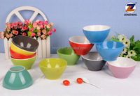 5.5'' solid and two-tone color glazed bulk ceramic baby bowl