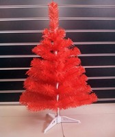 shiny red pvc christmas tree for christmas decoration