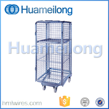 Warehouse portable mesh medium duty rolling transportation security cage