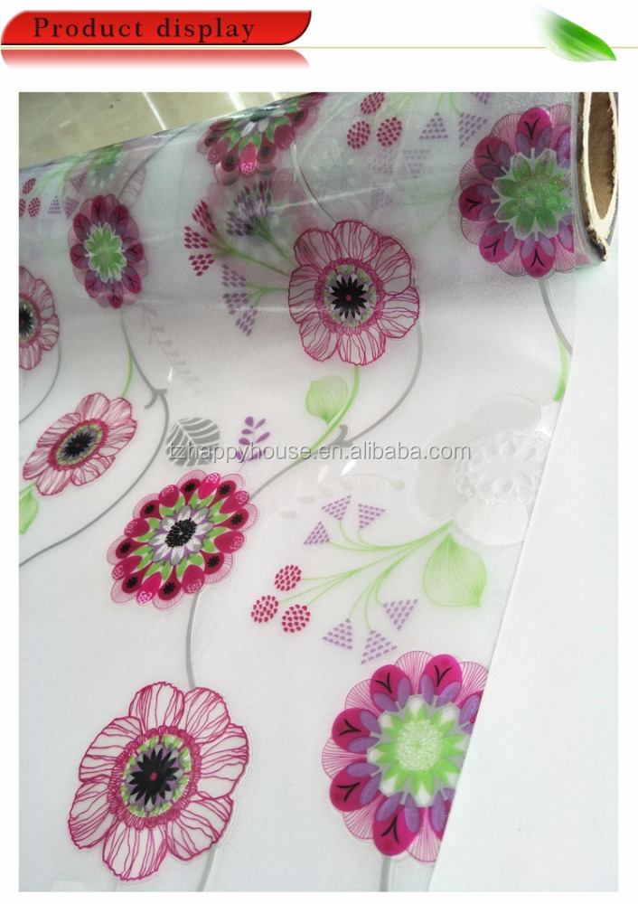 Printed Pattern And Square Shape PVC Table Cloth