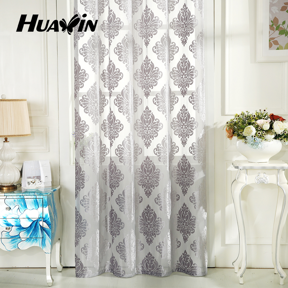 Latest popular cheap good quality hotel and home sheer curtain