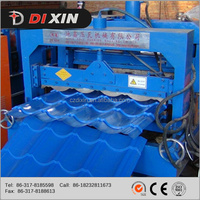 Dixin Most Popular Hydraulic Automatic Color Steel Metal Tile Sheet Roof Steel Glazed Roll Forming Machine