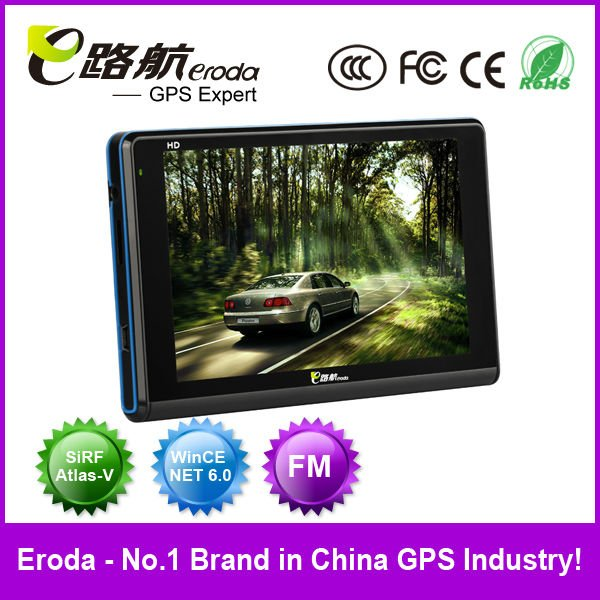 "5"" Car GPS Navigation FM Mp3 Mp4 New Style Wince 6.0 Built-in 4GB-Free Maps(E-V2)"