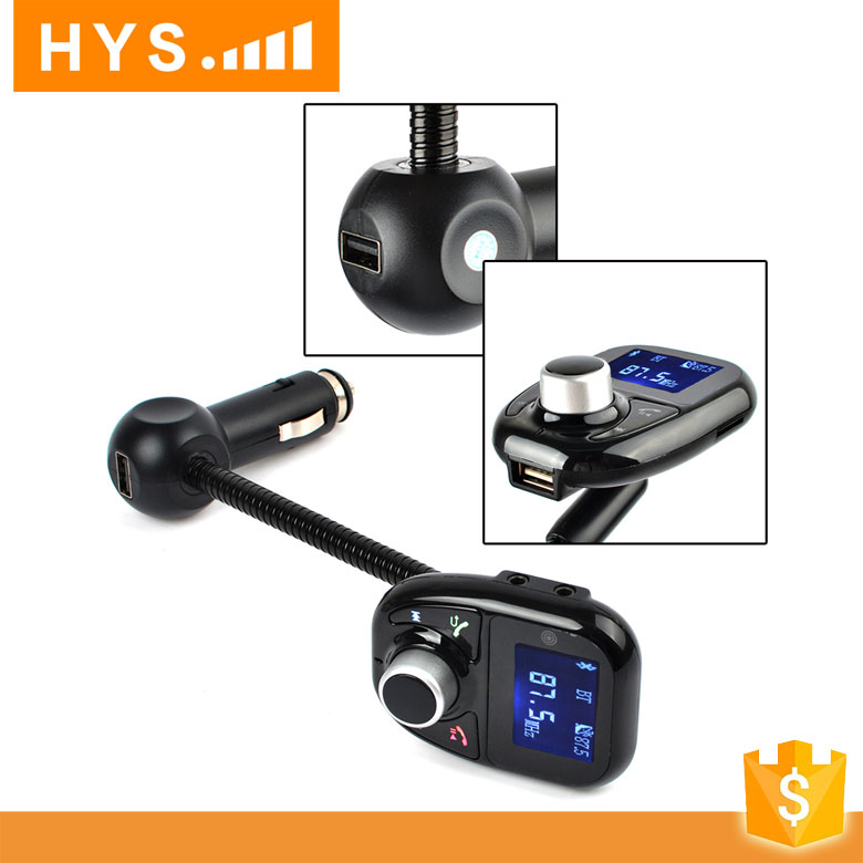 Wireless Radio Adapter Car FM Transmitter USB Charger mp3 player with bluetooth