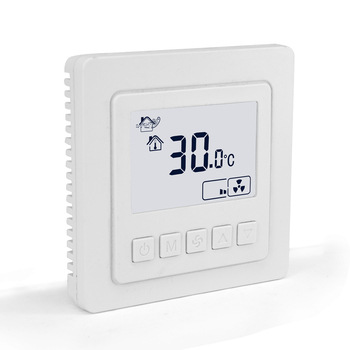 Standard two pipes control touch screen digital thermostat