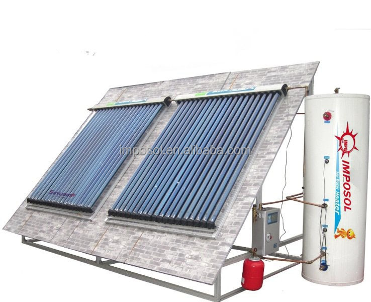 Roof Heating Systems : Hot sale roof mounted heat pipe solar water heater