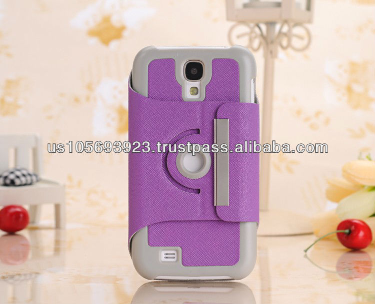 New 360 Degree Rotate Stand Leather Case Cover For Sumsung Galaxy S4/I9500 Paypal Accepted