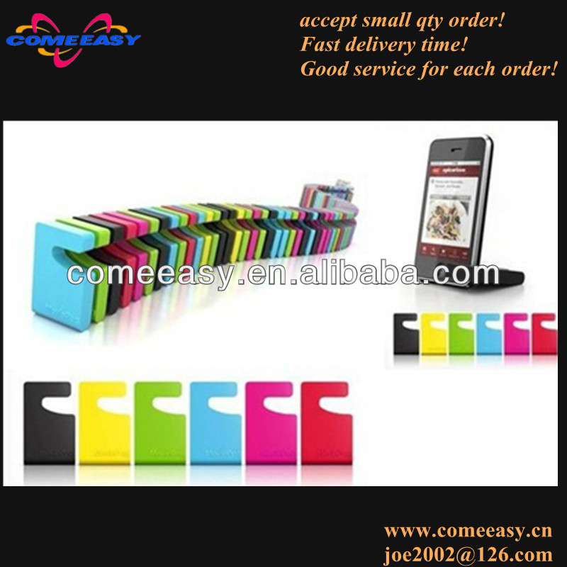 desktop promotion gifts print logo silicone mobile phone holder