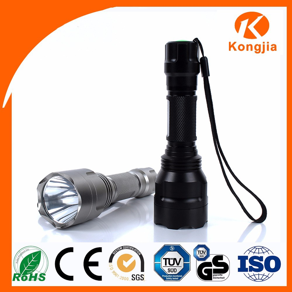 Ultra Bright Portable Aluminium Rechargeable Aspherical Lens Flashlight