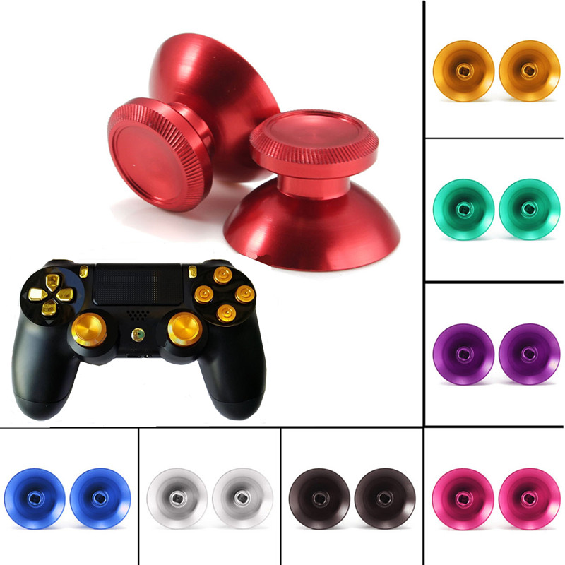 Multi Color 2Pcs/lot Newest High Standard Metal Bullet Buttons For PlayStation 4 For PS4 Controller Replacement Parts