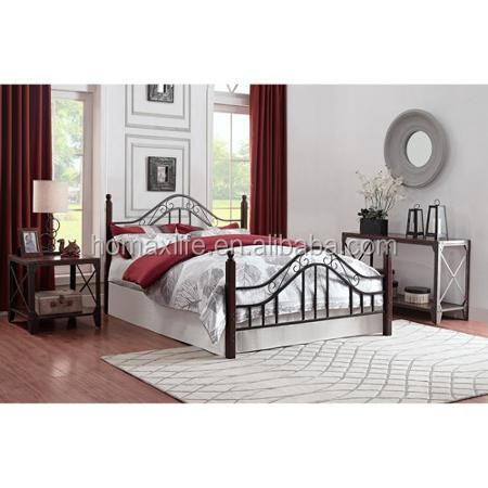 Bedroom furniture wood double bed designs