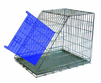 sloping folding galvanized wire steel travel dog crates