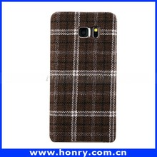 Fashion Classical Cloth Mobile Phone Shell England Plaid Fabric Phone Case for Samsung Galaxy Note 5/S6
