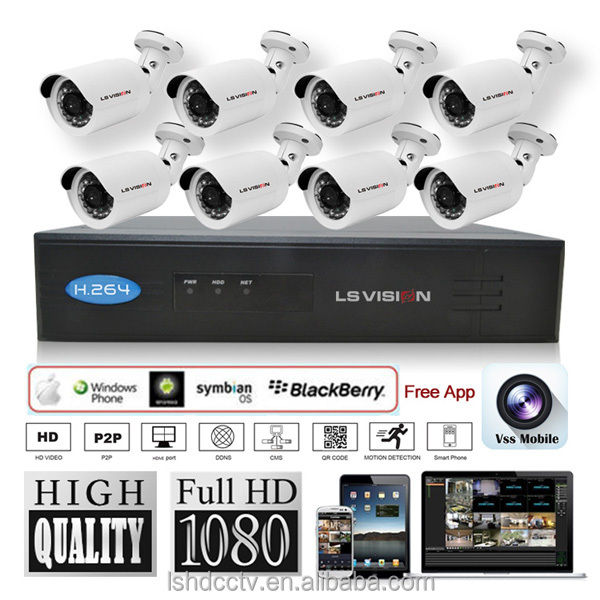 LS VISION 8CH NVR Kit POE Camera System HD Security IP Camera System CCTV Monitor System Complete Surveillance Network Camera