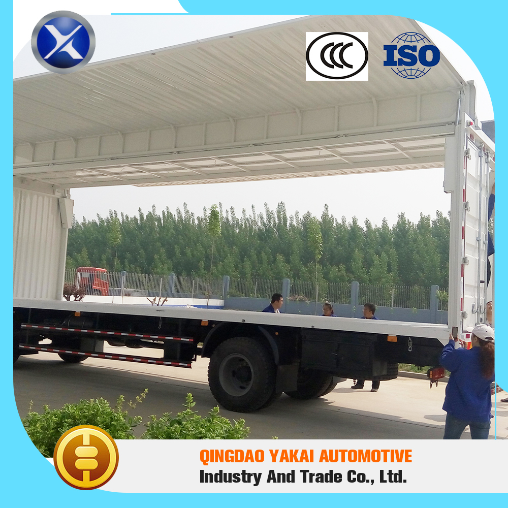 High quality standard open wing van body truck