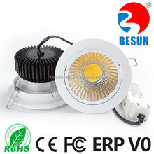 Lifud driver 20W COB LED Downlight 2000lm fire rated downlight