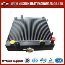 aluminum plate and bar brazed hydraulic oil radiator
