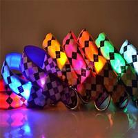 pet led dog collar light up for pet flashing led dog collar