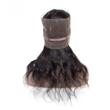 Natural Hairline Unprocessed Brazilian Virgin Mink 100% Human Hair 360 Lace Frontal Body Wave