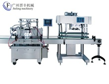 full automatic mineral water filling capping and labeling machine with plc control