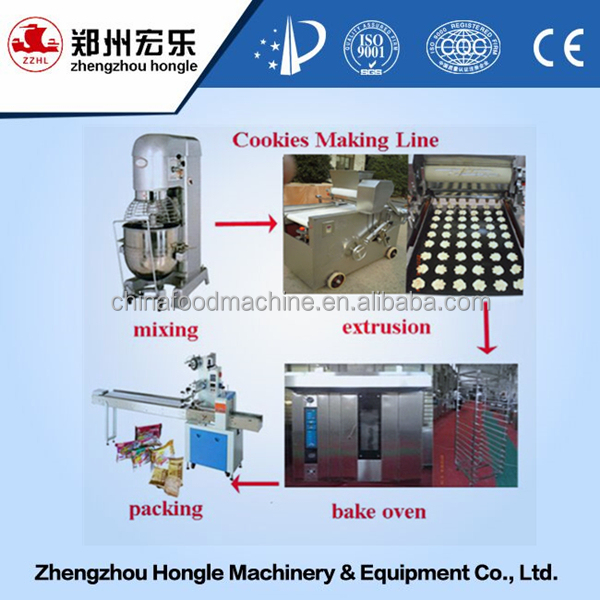 All purpose fortune cookies making machine cookies production line