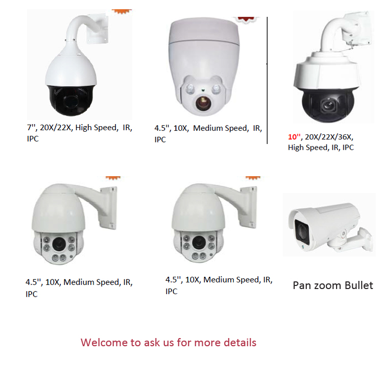 HD-IP Pan Zoom Bullet CCTV Camera Medium Speed IPC 4X Optical Zoom With POE
