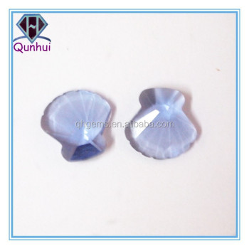 irregular shaped lavender or champagne gemstone