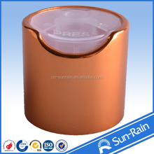 Products manufacturer metal disc top cap used for perfume bottle
