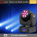 China 7*12w 4in1 rgbw beam led mini moving head light manual with 13 Channel