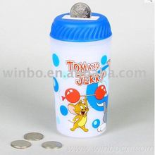 Music cartoon student gift plastic coin bank