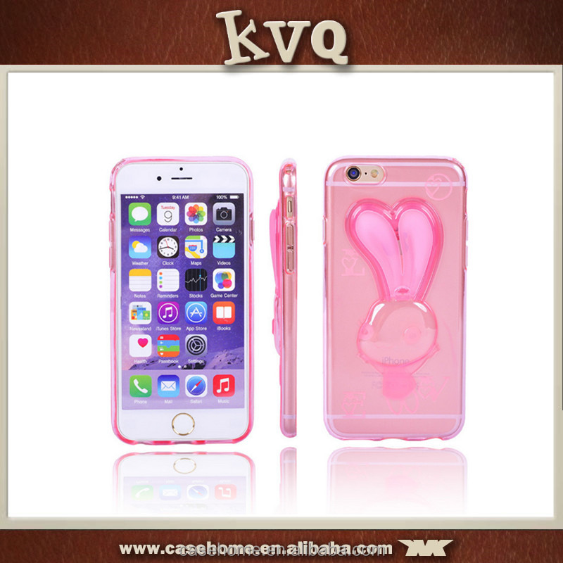 Fancy mobile case cover for iPhone 6,for iPhone 6 lovely case,rabbit ears phone case
