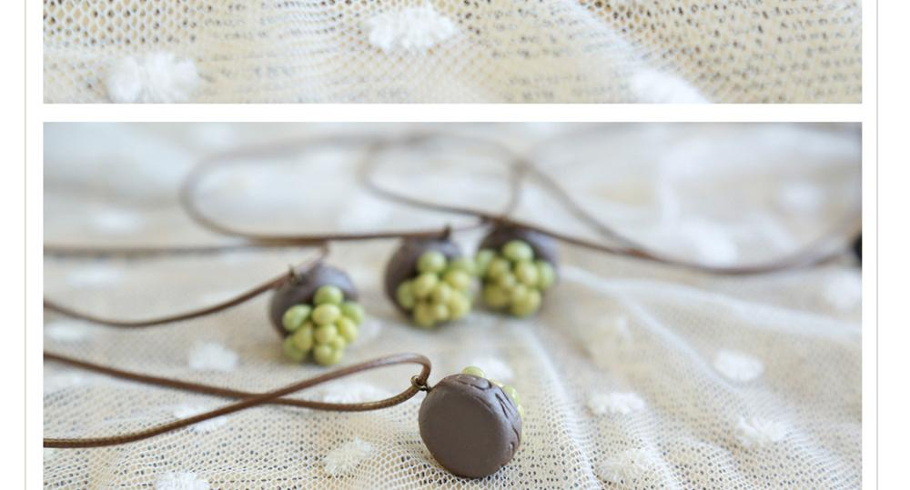 ceramic necklace succulents necklace fancy necklace perfect gift mini cute birthday pendant