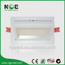 100lm/w CE RoHS SAA C-Tick Samsung smd 60w dimmable rectangular recessed led downlight