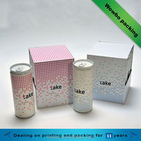 2015 high quality paper beverage can packing box top grade