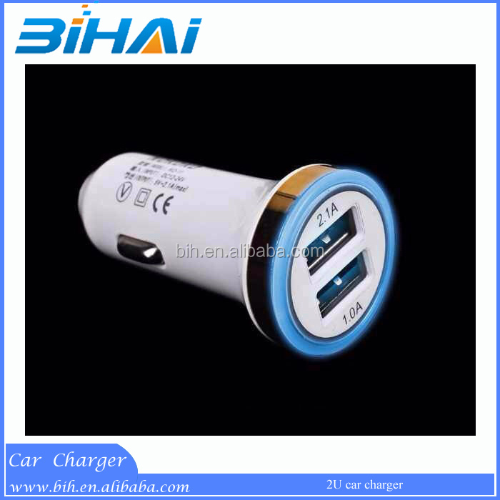 High quality metal car battery charger, cell phone car charger