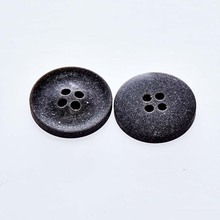 Special craft jeans button round black flat top buttons printed