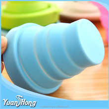 elescope shape Heat Resistance folding silicone drink <strong>cup</strong> foldable <strong>cup</strong>