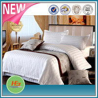 100% cotton 3 cm satin stripe hotel bedding set, duvet cover