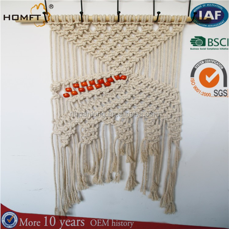 nature cotton rope home wall hanger /good Home Furnishing