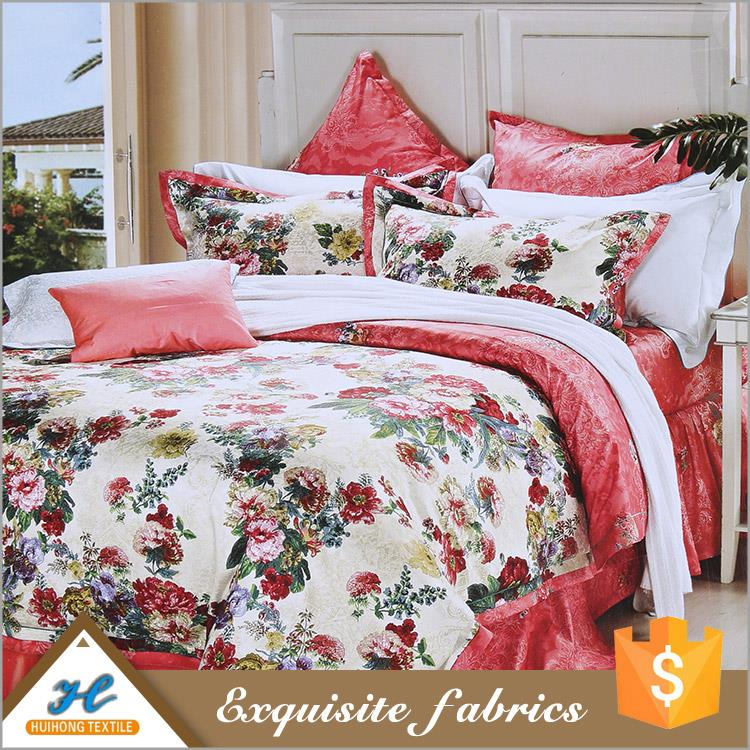 Shaoxing supplier Bed sheet use Polyester celebrity fabric prints