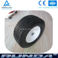 16 inch pu foam solid industrial trailer wheel
