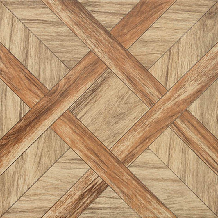Matt Rustic Laminate Parquet Wood Flooring Tiles for Living Room Floor 60x60 Porcelain