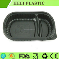 2-Compartment Microwave Safe Food Container Lunch Tray with Cover