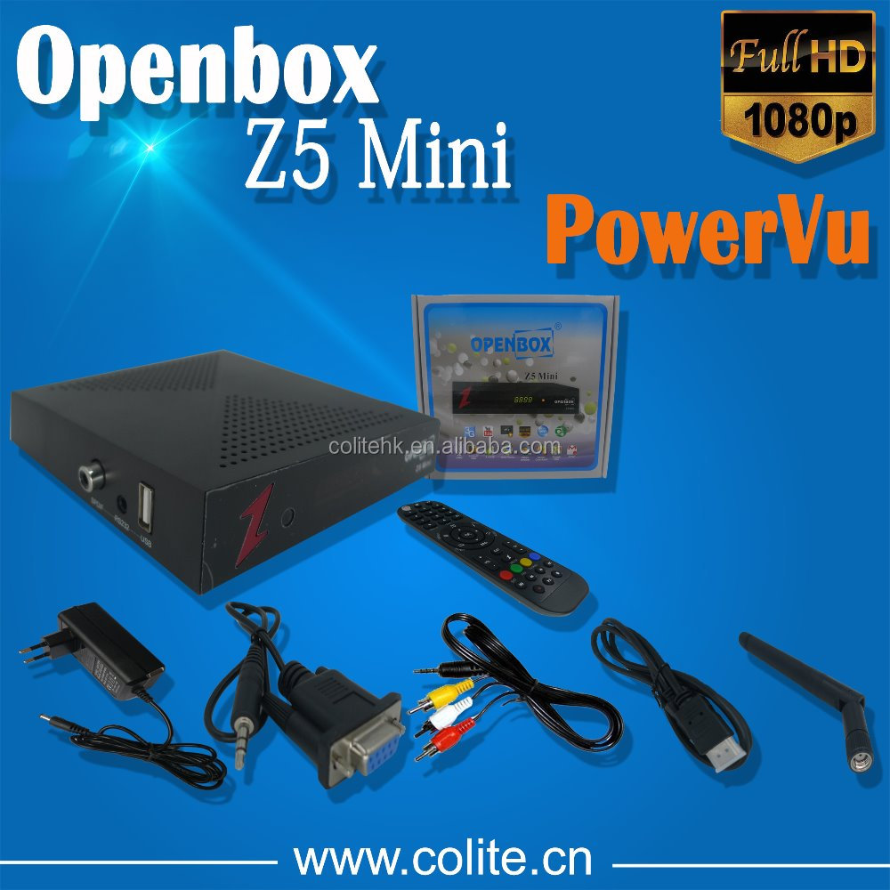 MINI HD DVB-S2 Openbox Z5 Mini Sunplus 1506E support PowerVu Patch to Open Paid Channels