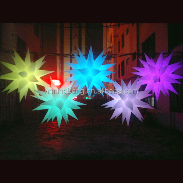 Ningbang 2016 fantastic inflatable star inflatable air star balloon for event decoration