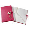 Fashion Journal Diary School Supplies Genuine Leather Heart Locked Notebook