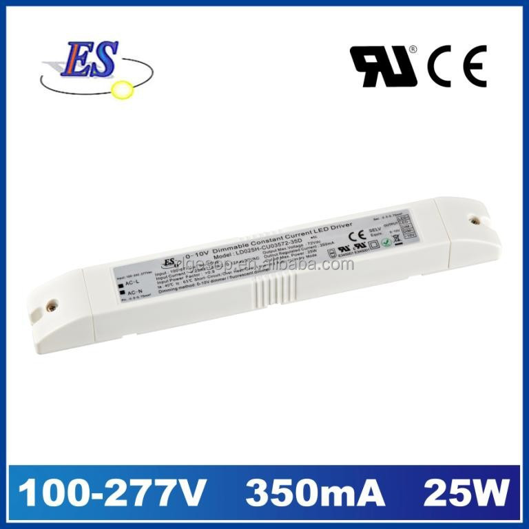 25W 350mA AC-DC Constant Current LED Driver with 1-10V Dimming