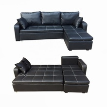 new design Modern leather chesterfield sofa bed