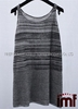 Lady Cool Sweater Vest Stripe Pattern Linen Sleeveless Blouse